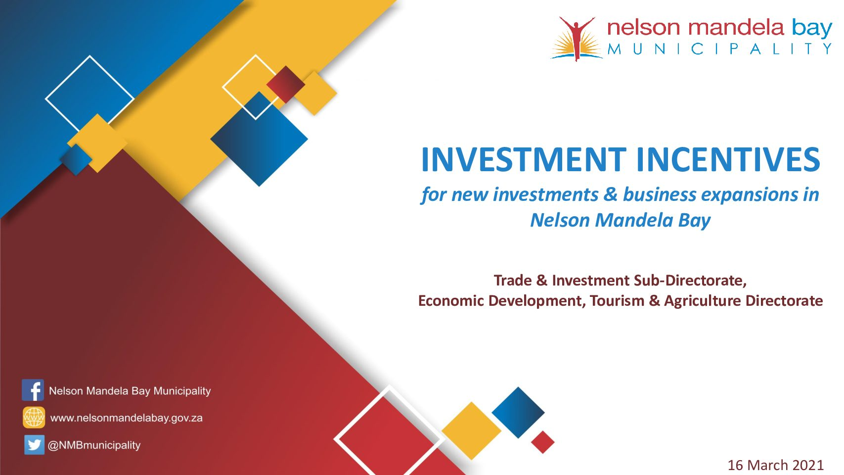NMBM offers financial incentives to attract business investment